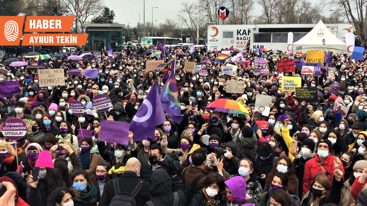 Kadınlar İstanbul Sözleşmesi için ayakta: Kararı tanımıyoruz