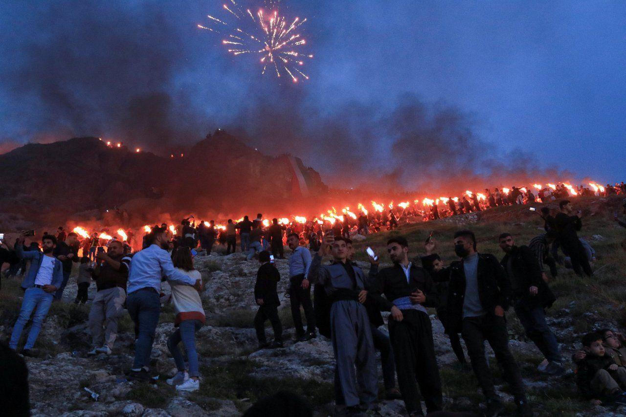 Kürdistan'da kutlamalar: Akre'de Newroz ateşini gönüllü gençler taşıdı - Sayfa 2