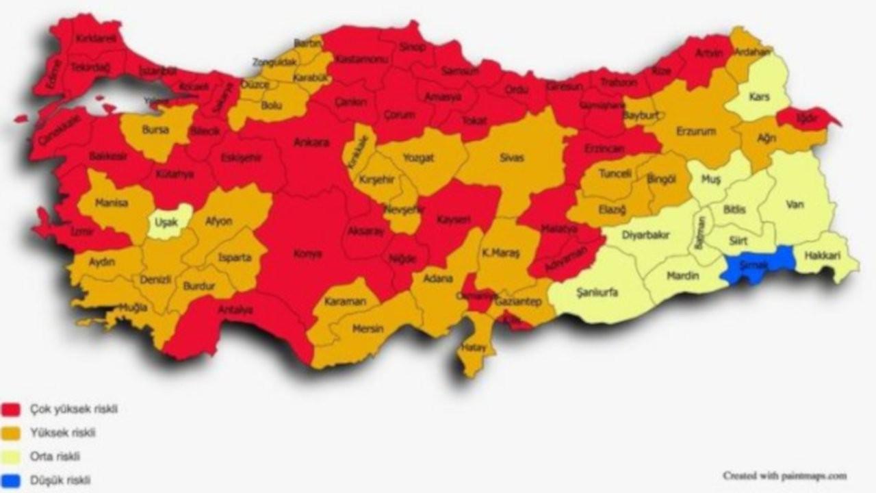 Korona haritası hızla değişiyor: Tek 'mavi' il Şırnak