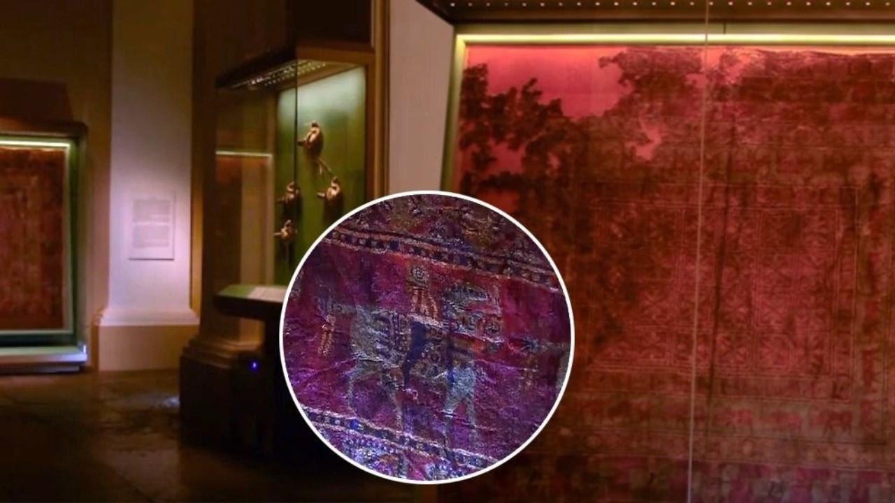 2 bin 500 yıllık Türk motifli halının sırrı çözüldü: Alüminyum