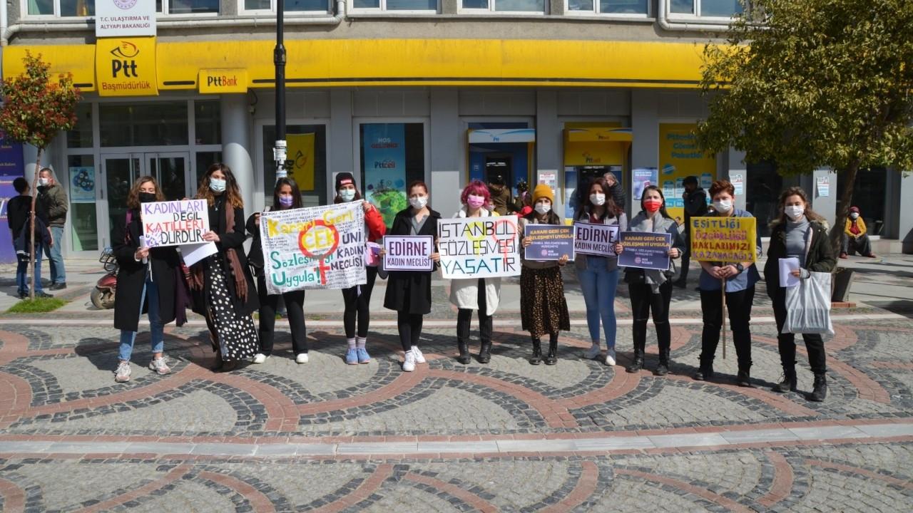 Edirne'de İstanbul Sözleşmesi'nden çekilme kararına tepki: Kabul etmiyoruz
