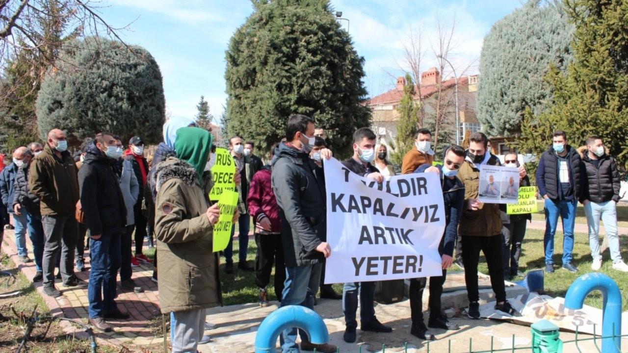 Konya'da esnaflar bir eylem daha yaptı: Bıçak kemikte!