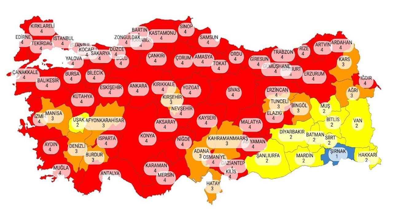 Covid-19 salgınında 'çok yüksek riskli' il sayısı 58'e ulaştı