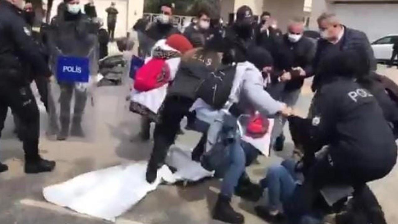 Tuncay Özilhan'ın evinin önünde eylem yapan işçiler gözaltına alındı