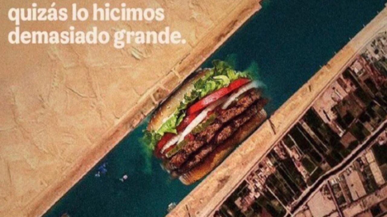 Burger King'den Instagram'da 'Süveyş Kanalı' gafı