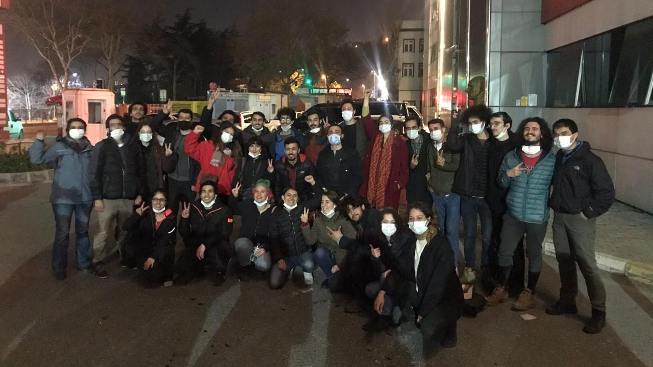 Boğaziçi eyleminde gözaltına alınan tüm öğrenciler serbest bırakıldı