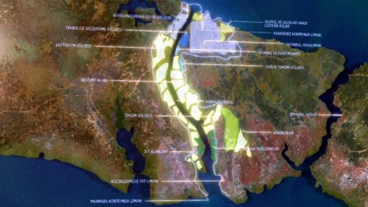 'Kanal İstanbul güzergahında 40 milyon m2 arazi yer değiştirmiş'