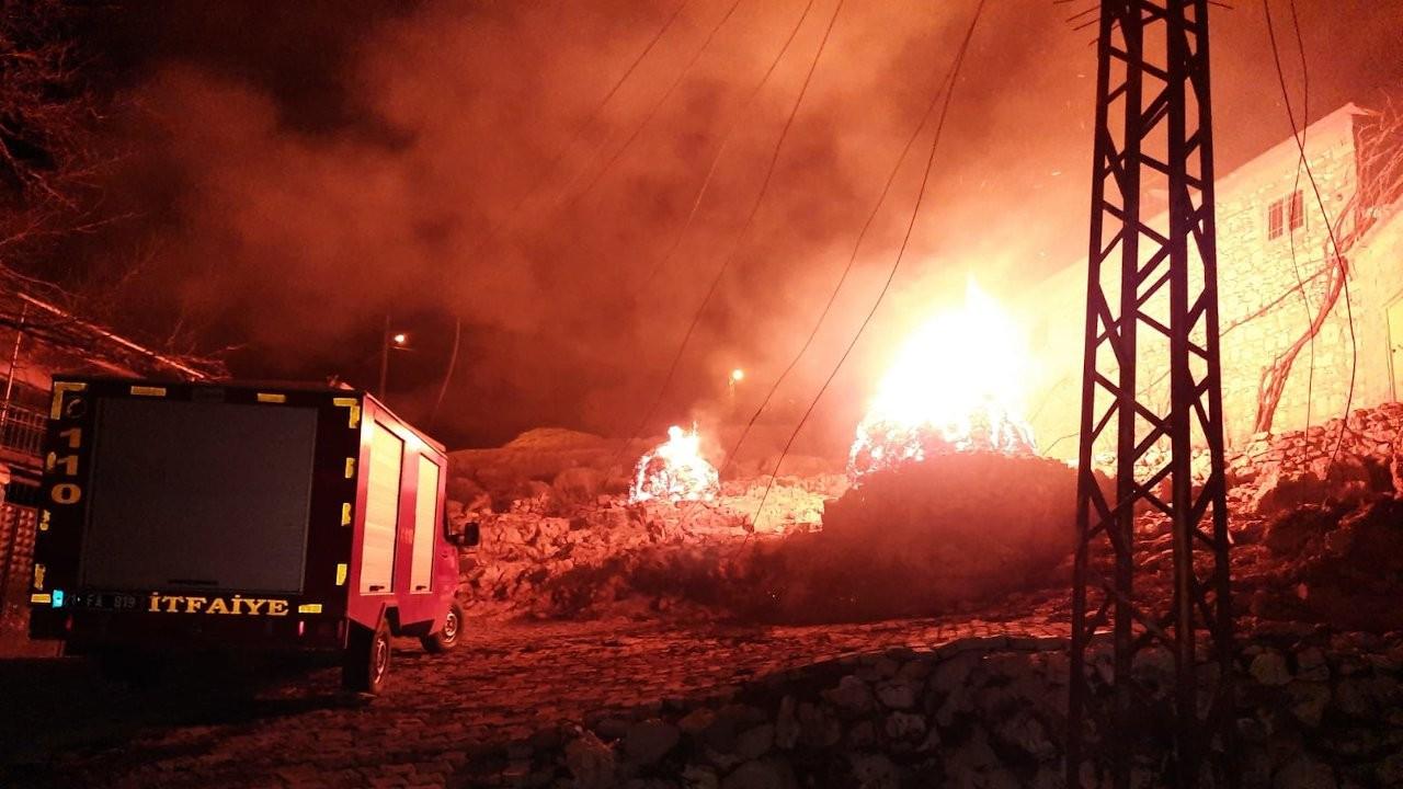 Diyarbakır'da üç evde yangın