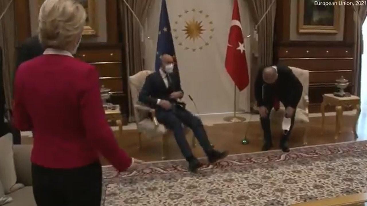 Von der Leyen'in Ankara'da ayakta kaldığı görüntüler tepki çekti