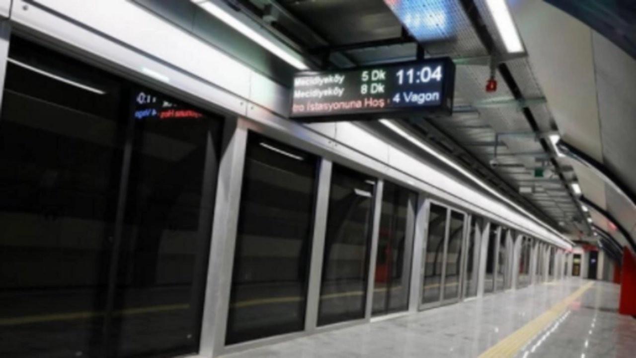 Mecidiyeköy metro istasyonu kapatıldı