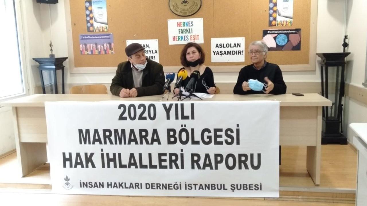 İHD'nin Marmara raporu: 2020'de 5 bin 369 hak ihlali yaşandı