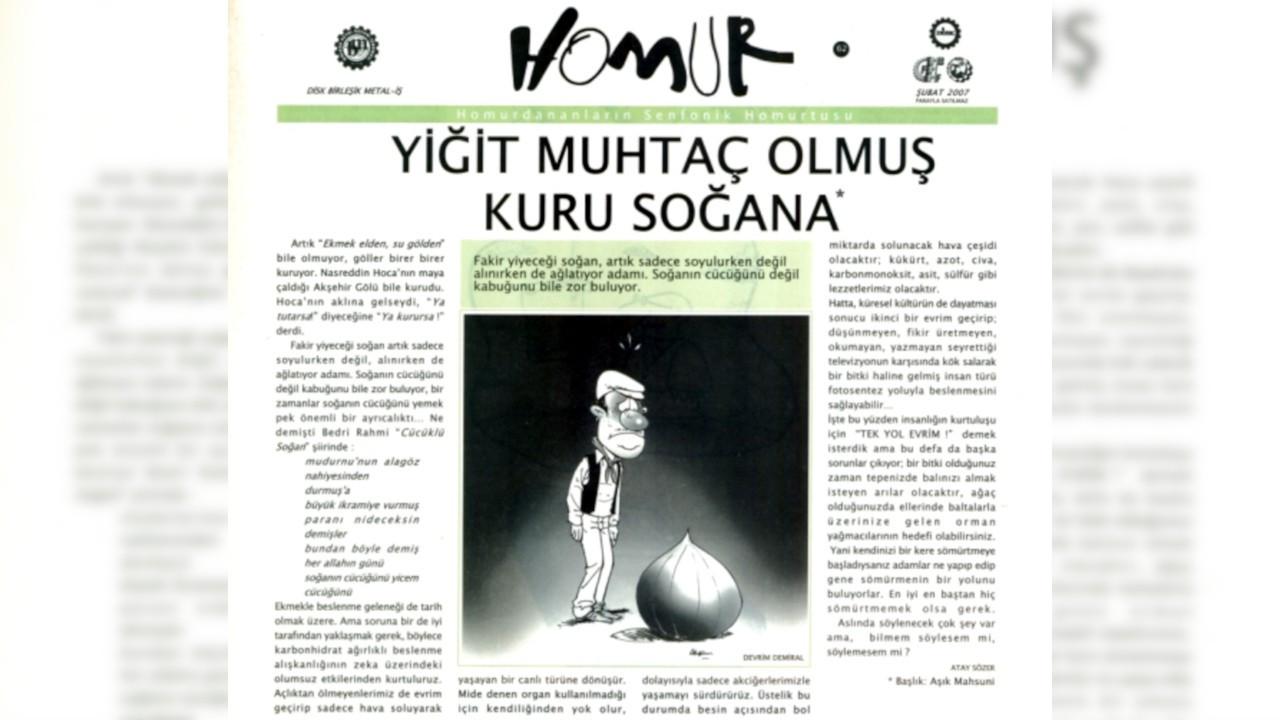 Homur Mizah Dergisi'nden hükümete: Homur okumalarını tavsiye ederiz
