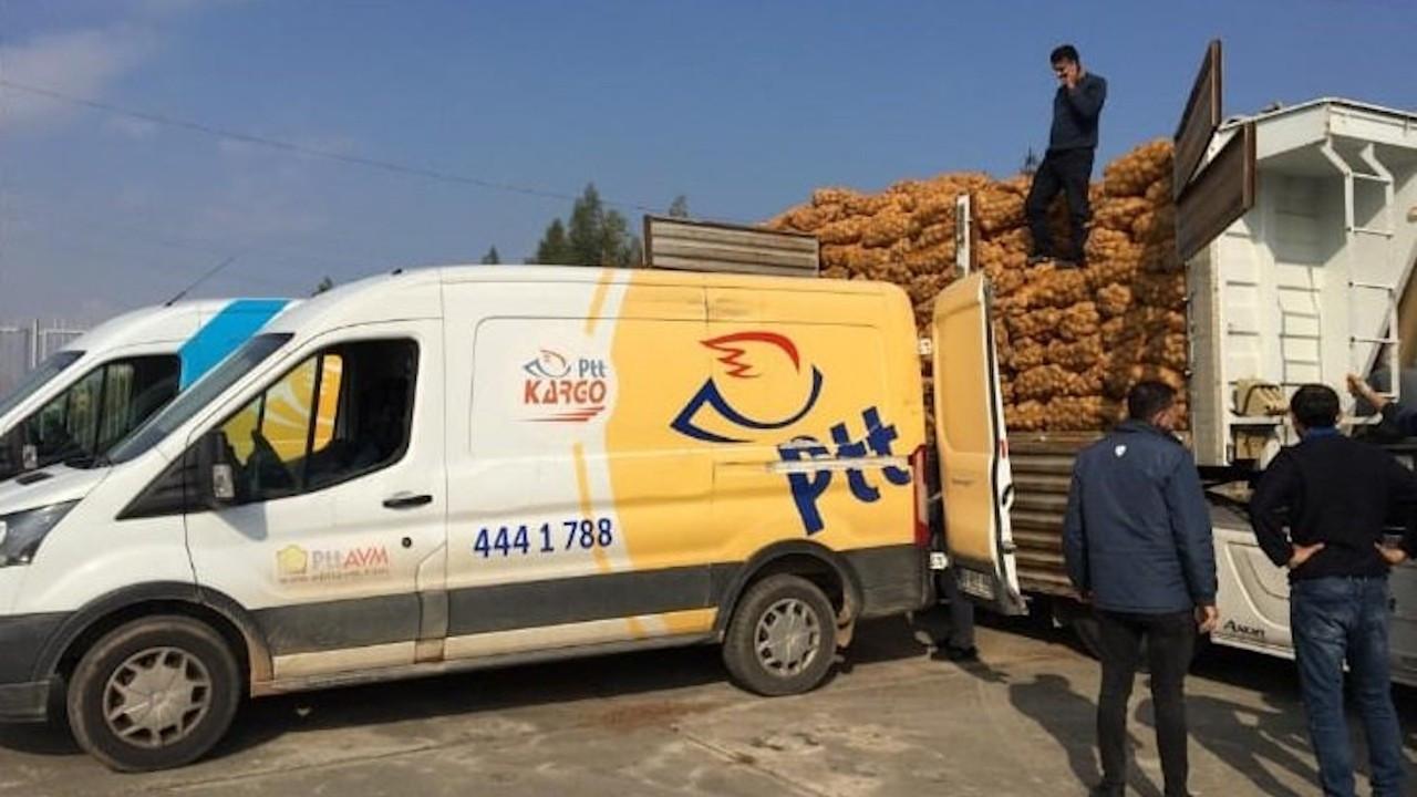 'PTT çalışanları patates soğan çuvallarını taşımaya zorlanıyor'