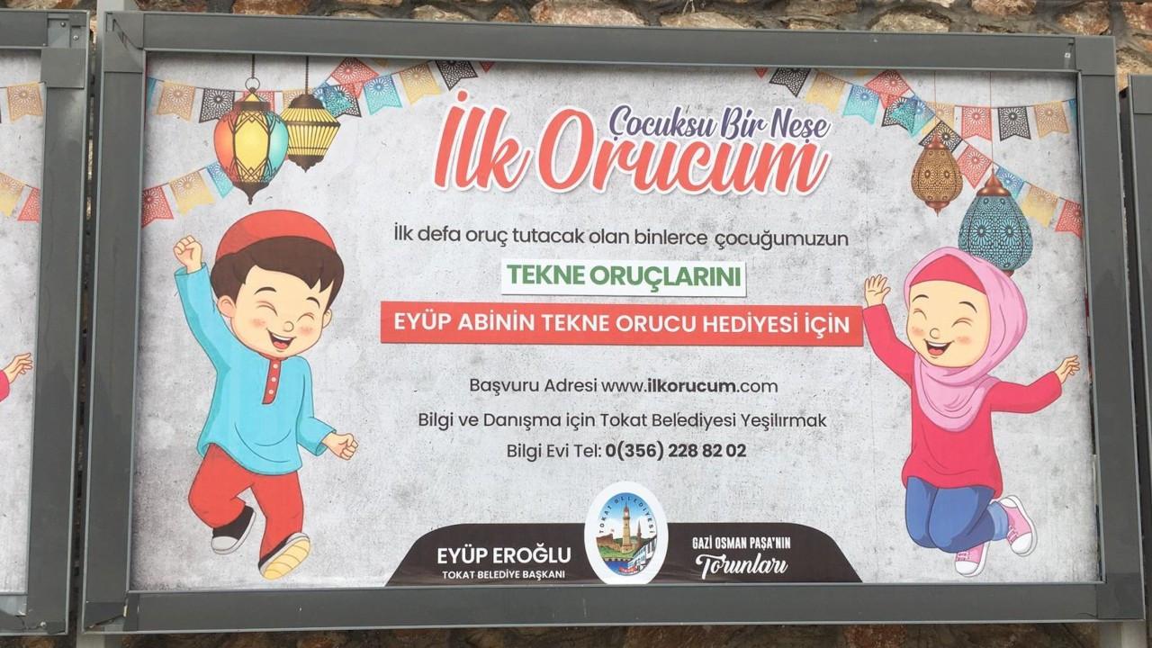 Tokat Belediyesi oruç tutan çocuklar için hediye kampanyası başlattı