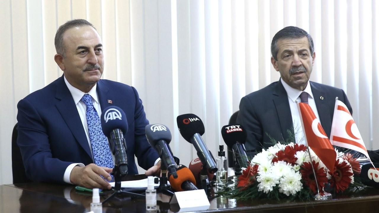 Çavuşoğlu, KKTC'li mevkidaşı Ertuğruloğlu'yla görüştü
