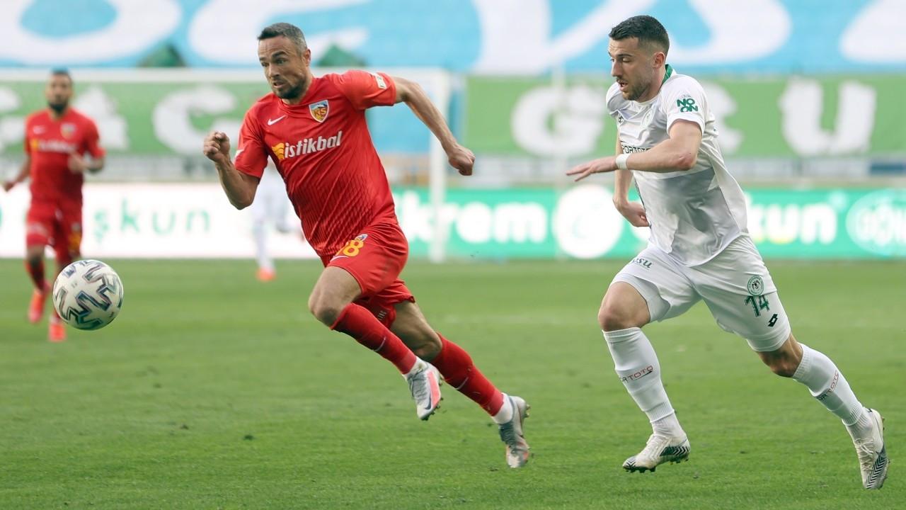 Konya'da gol sesi çıkmadı, puanlar paylaşıldı