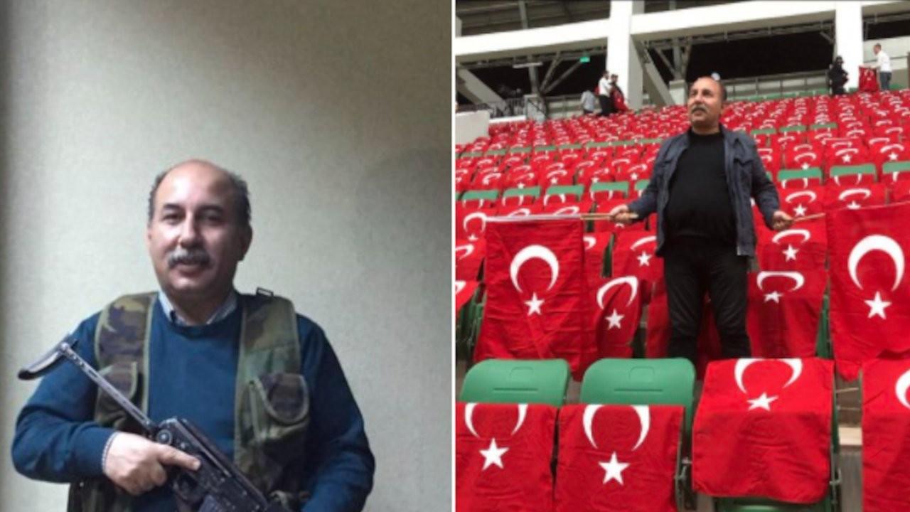 AK Parti yöneticisi emekli amirallere kalaşnikof gösterdi
