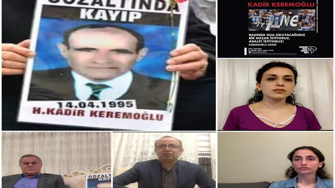 Cumartesi Anneleri Kadir Keremoğlu için adalet istedi