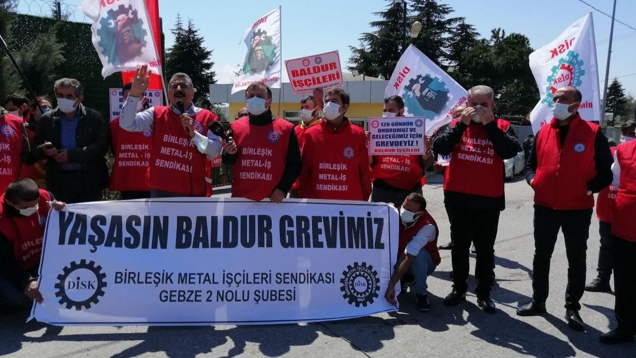 Baldur işçileriyle dayanışma konserine izin verilmedi