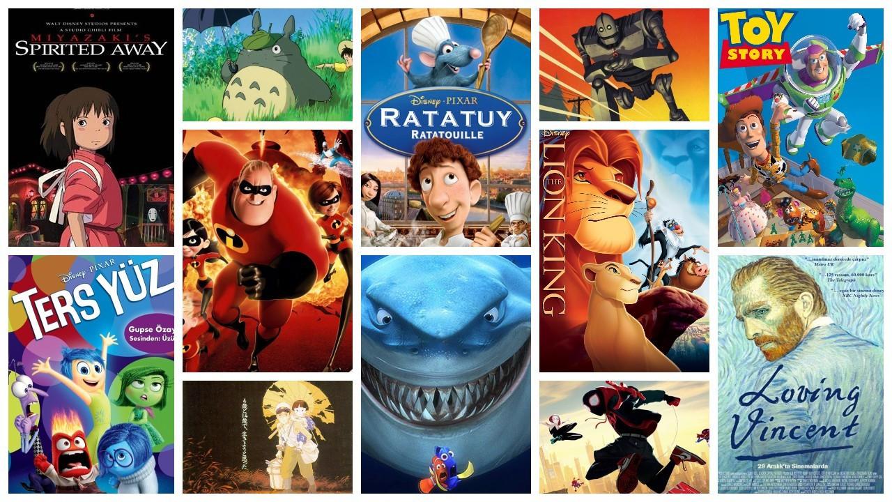 IMDb'ye göre en yüksek puanlı 50 animasyon