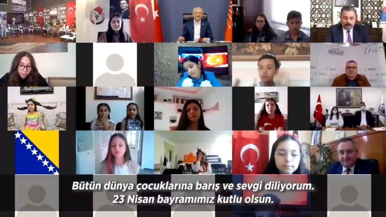 Kılıçdaroğlu çocuklarla çevrimiçi bayramlaştı