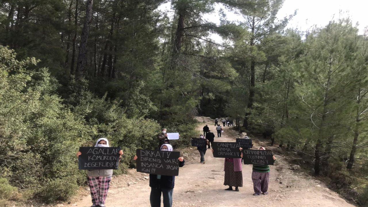 İkizköylüler, kömür madenine karşı yaşam nöbeti başlattı