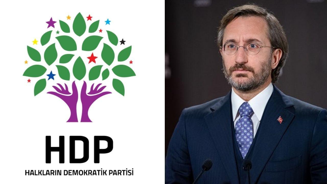 HDP'den Altun'a Ermeni Soykırımı yanıtı: Utanç vesikası size ait