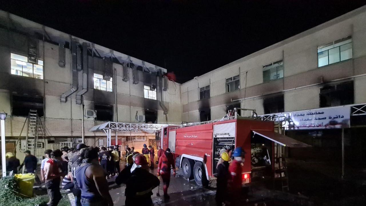 Bağdat'taki Covid-19 hastanesinde yangın: En az 35 ölü