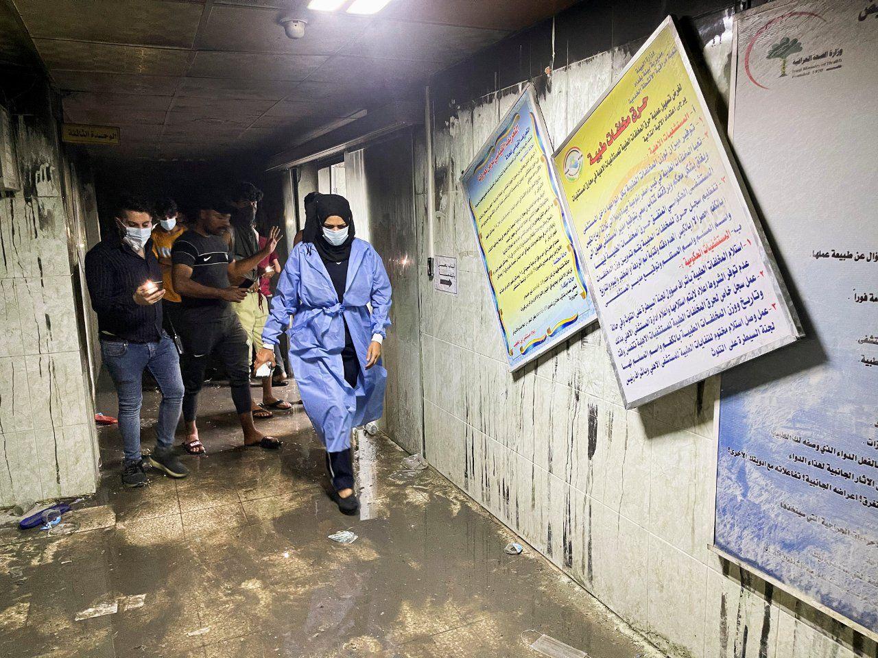 Bağdat'taki hastane yangınında ölü sayısı 82'ye yükseldi, görgü tanığı 'Herkes atlıyordu' dedi - Sayfa 2