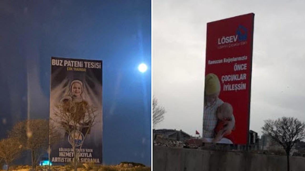 MHP'li belediye LÖSEV'in afişlerini indirdi