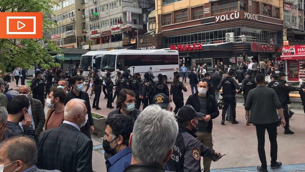 Ankara'da 1 Mayıs açıklaması engellendi