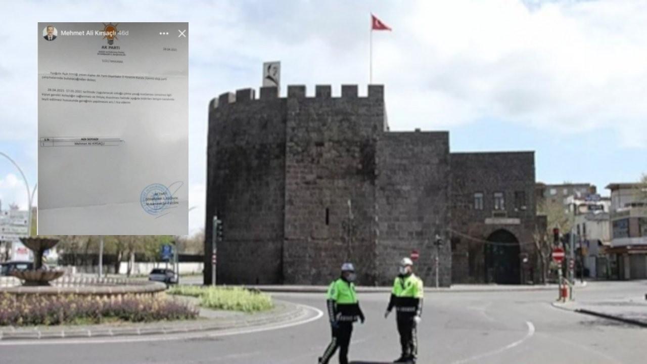 Diyarbakır'da AK Partililere 'izin belgesi' verilmiş
