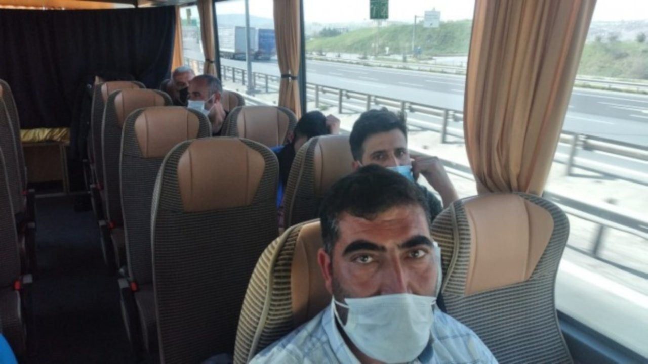 Evleri yıkılan Kürt işçiler HDP'nin desteğiyle Ağrı'ya gönderildi