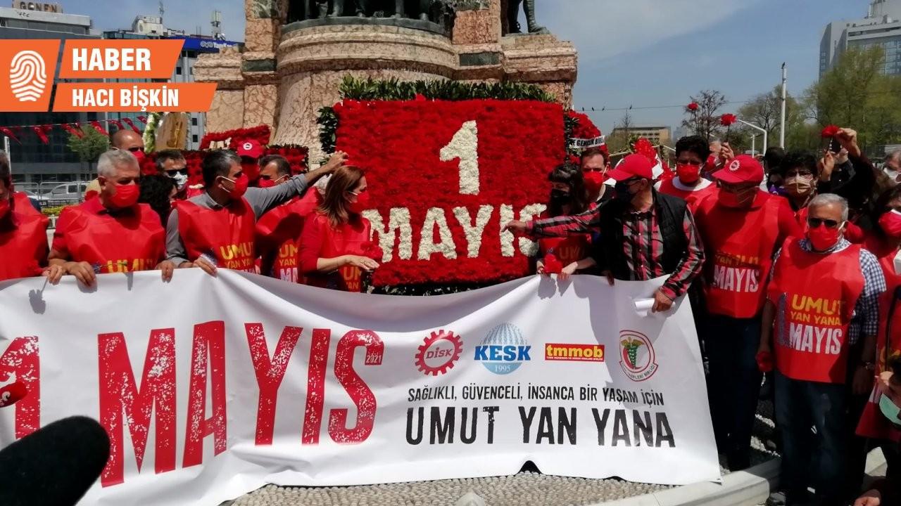 Emek ve demokrasi güçleri Taksim'e çıktı