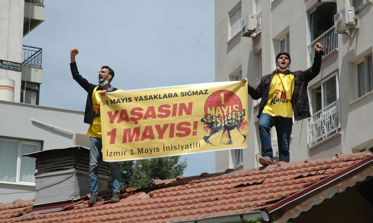 Polis 1 Mayıs'ı çatıda da engelledi, mahalleli protesto etti - Sayfa 1