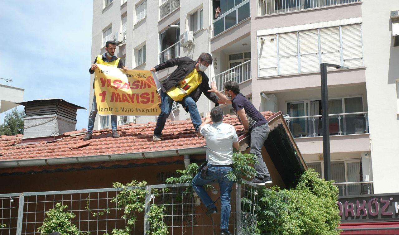 Polis 1 Mayıs'ı çatıda da engelledi, mahalleli protesto etti - Sayfa 2