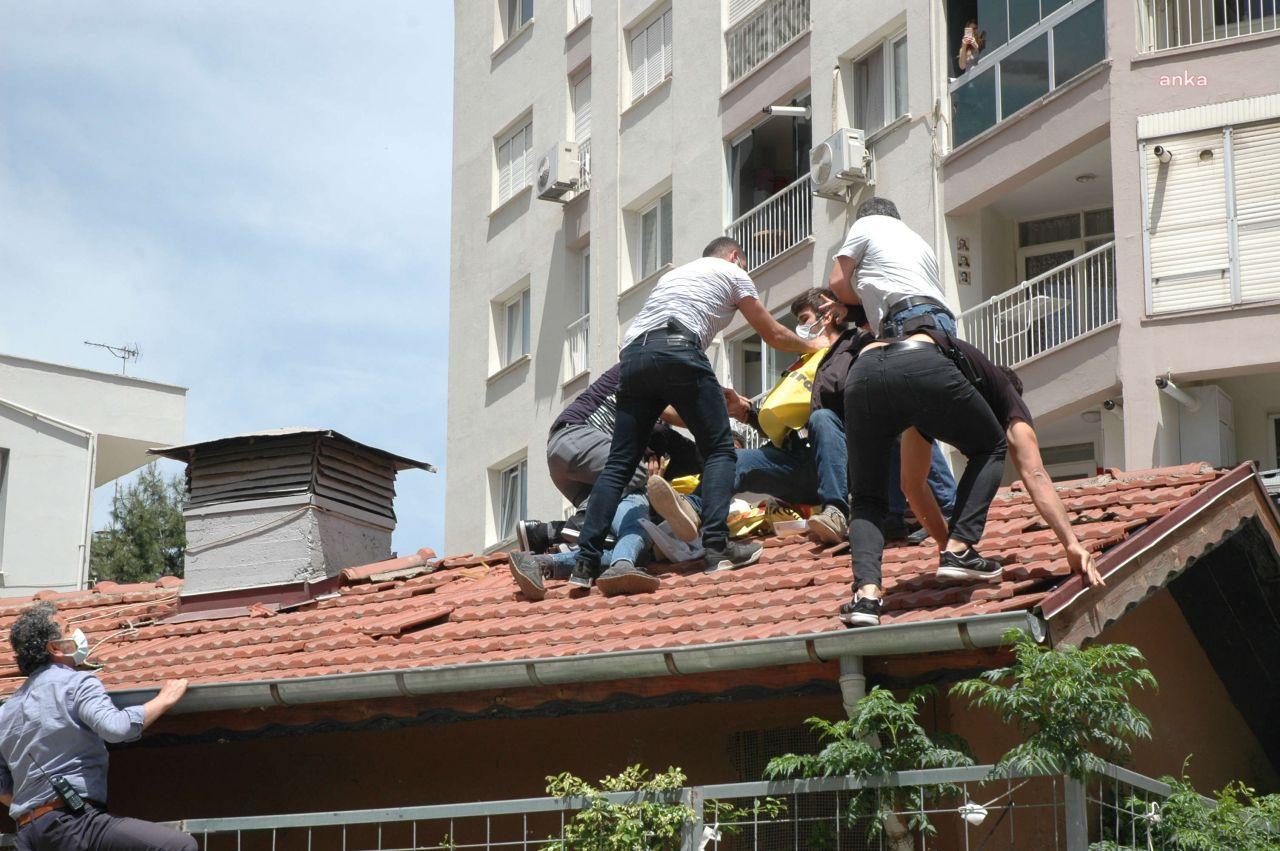 Polis 1 Mayıs'ı çatıda da engelledi, mahalleli protesto etti - Sayfa 4