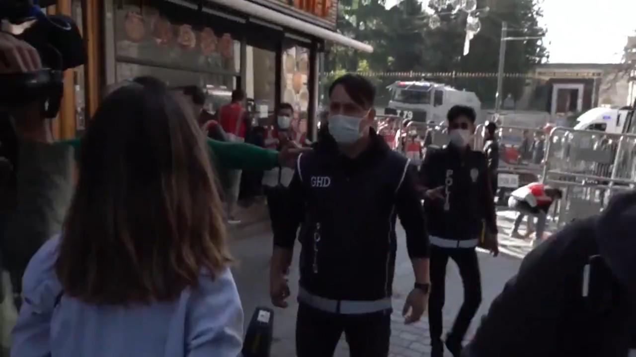 Şiddeti görüntüleyen gazetecilere polis engeli: Genelge var