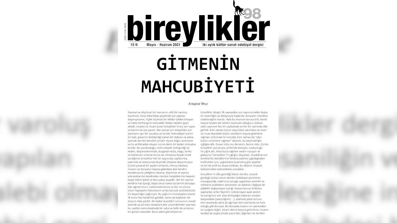 Bireylikler dergisi son kez yayımlandı