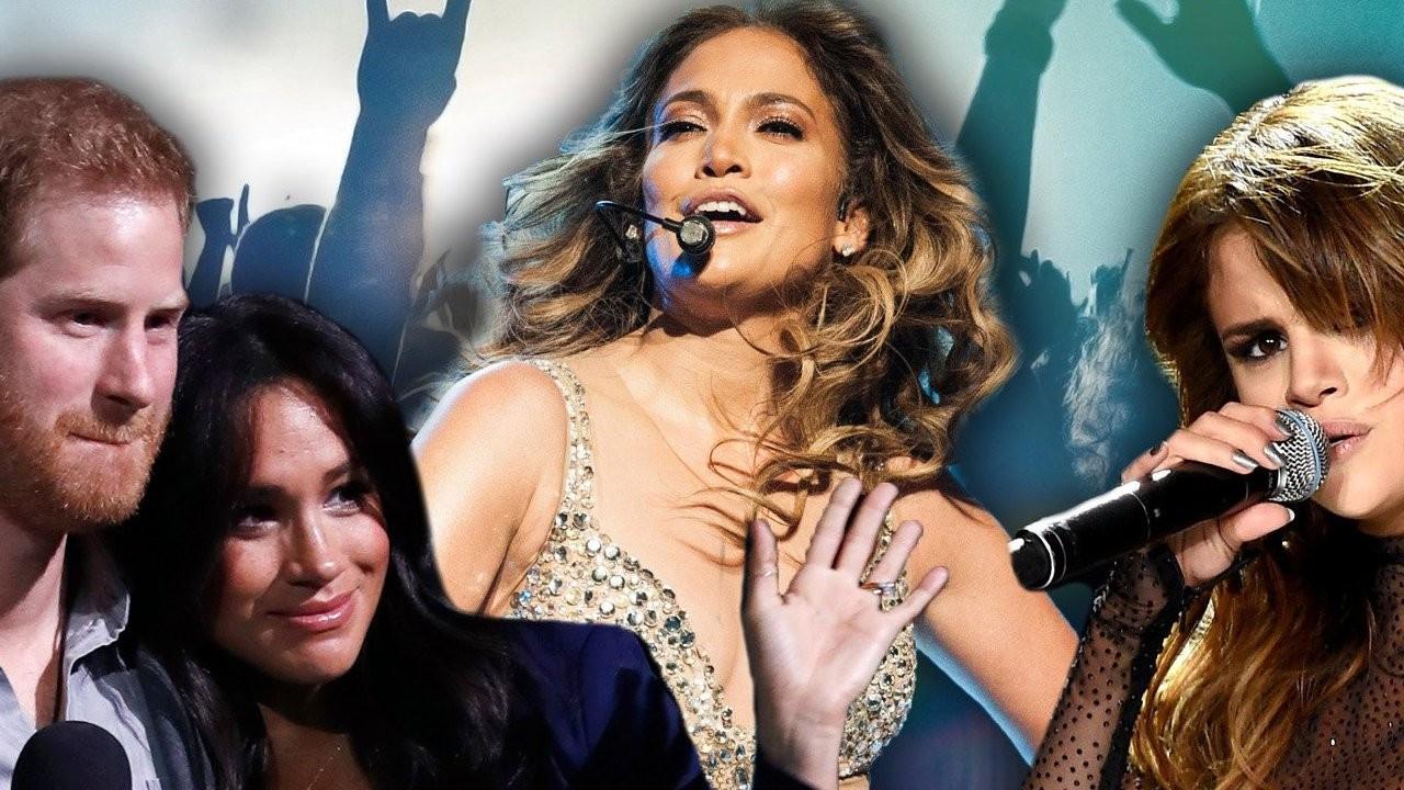 Prens Harry, Jennifer Lopez ve Selena Gomez'den aşı konseri