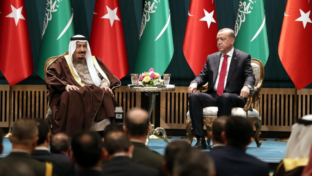 Cumhurbaşkanı Erdoğan, Kral Selman'la görüştü