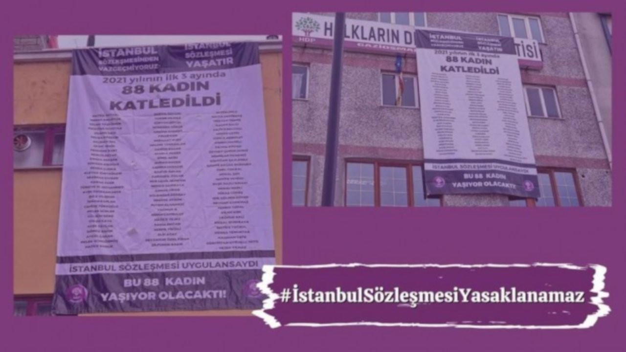 HDP'den İstanbul Sözleşmesi kampanyası