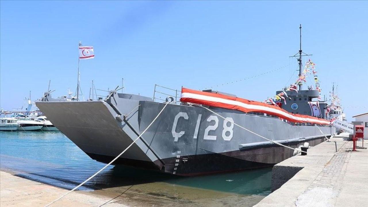 'Kıbrıs Harekatı'nda kullanılan geminin üzerindeki 128 rakamı silindi'