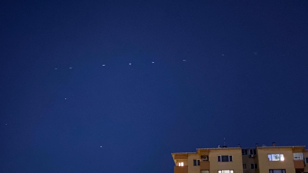 Musk'ın Starlink uyduları Türkiye'den de görüldü