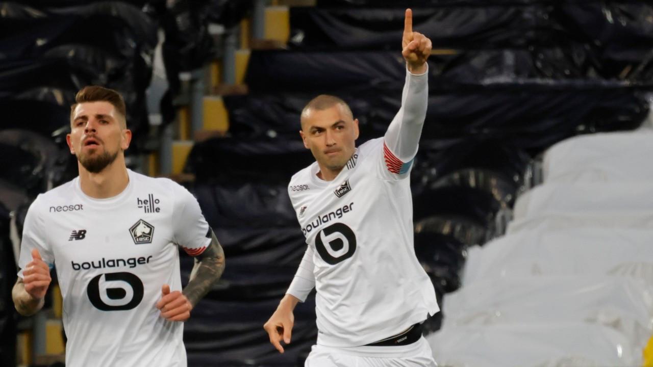 Lille, Burak'ın golleriyle şampiyonluğa koşuyor