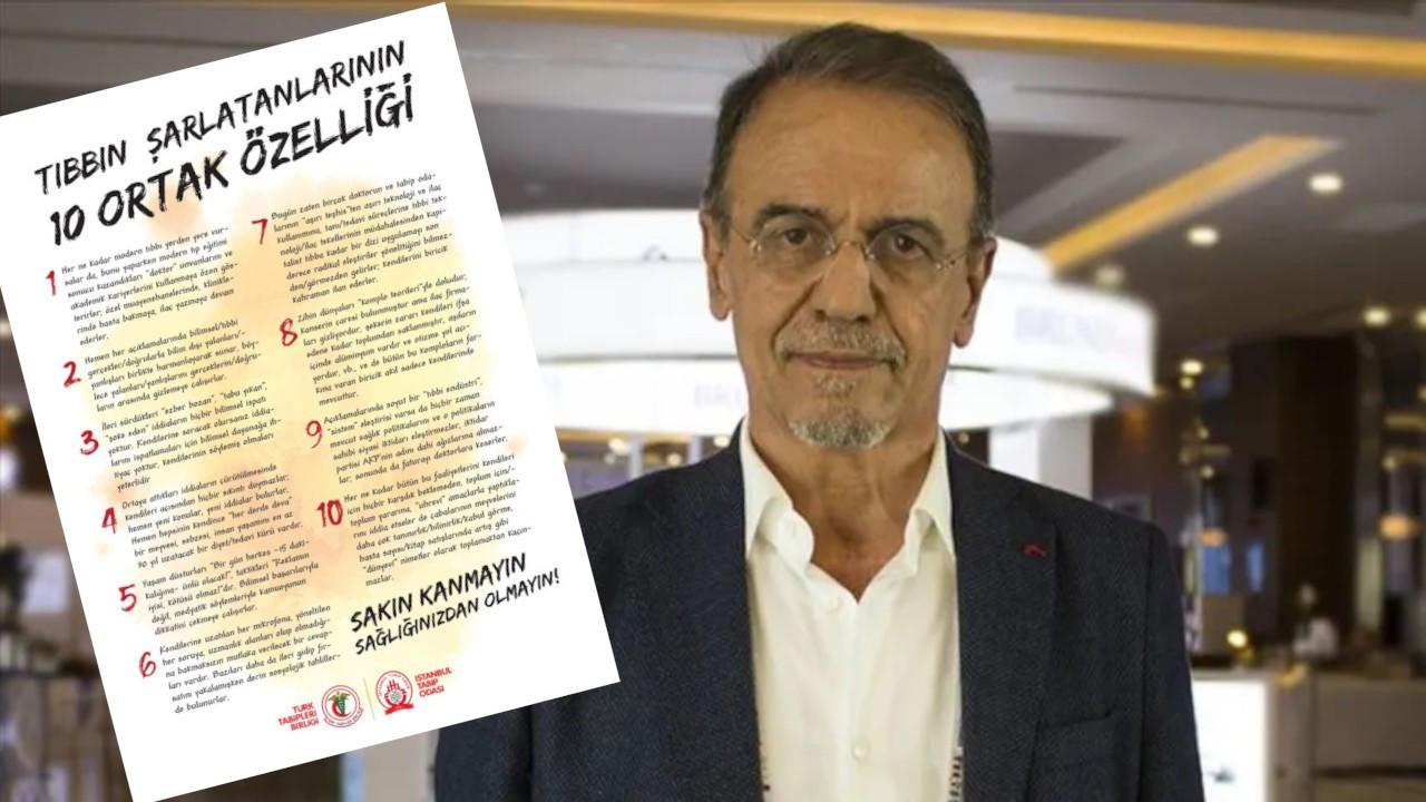 İstanbul Tabip Odası'ndan Prof. Ceyhan'a destek: Tıbbın şarlatanlarının 10 ortak özelliği