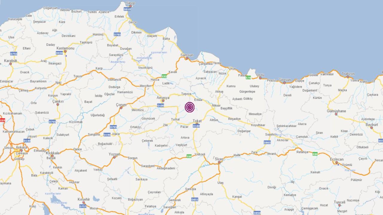 Tokat'ta 3,9 büyüklüğünde deprem