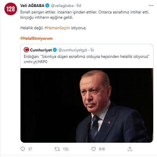 Erdoğan 'helallik' istedi, sosyal medya kullanıcıları 'helal etmedi' - Sayfa 3