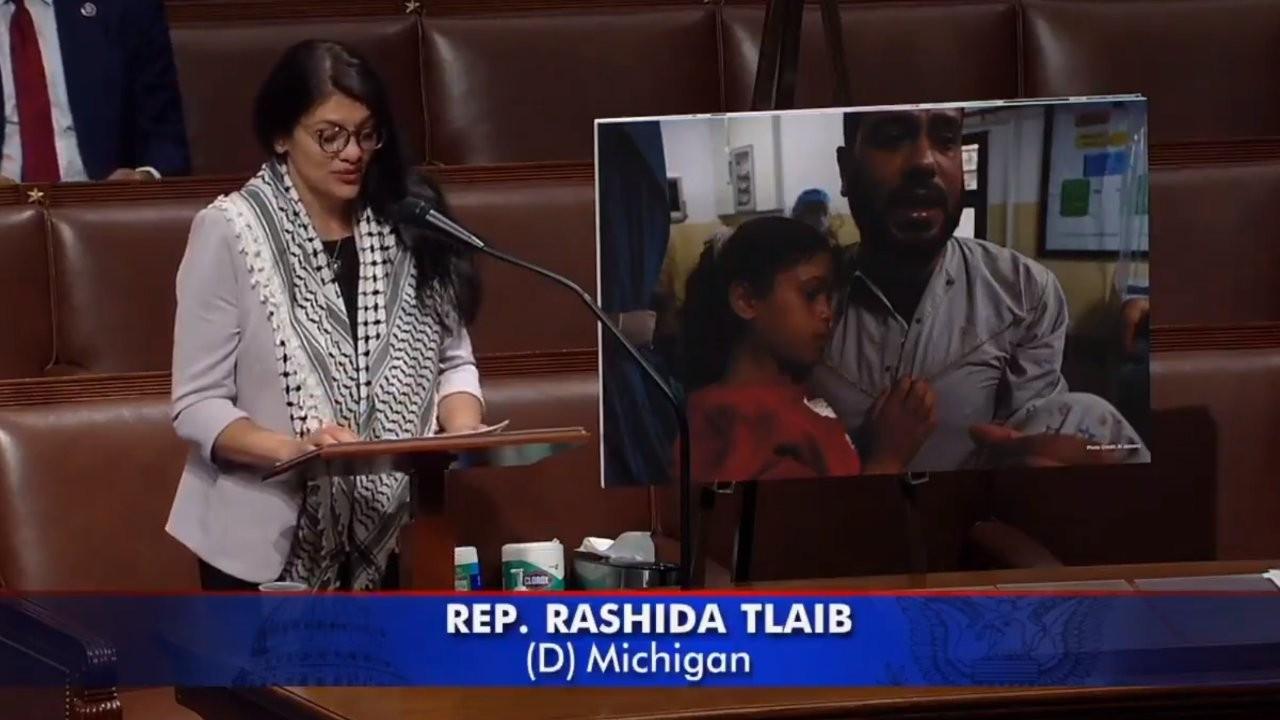 Filistin kökenli ABD'li vekil Rashida Tlaib'den viral konuşma: Filistinliler bir yere gitmiyor