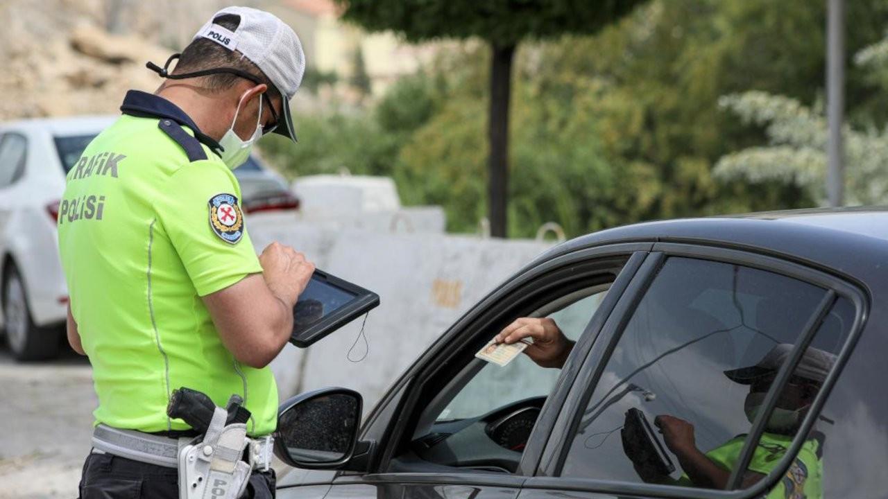 Dezenfektan kullanan sürücüye alkol cezası kesildi